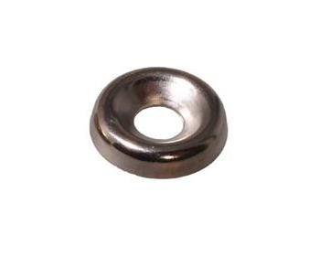 Nickel Plated No 9 Screw Cup Nickel Plated No 9 Screw Cup Details  No. 8 Screw Cup Colour : Nickel Plated Hole Size : 5.4mm Overall Dimension : 13.8mm   Pack size = 100pcs