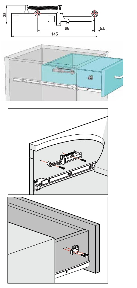 Soft close mechanism For wooden drawers