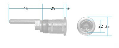 Threaded Pedestal Lock Housing Threaded Pedestal Lock Housing Measurements Lock body:  22mm diameter x 29mm long Pin Length: 45mm Brand: Huwil Finish:  Nickel Plated Manufactured by Lehmann   Compatible with Huwil VCS18 cylinders which can be found HERE     Threaded Pedestal Lock Housing Description   Supplied as a housing only and is compatible with all of the Huwil VCS18 cylinders. If you're faced with installing pedestal locks and cupboard locks in the same office enviroment but require the same key range to be used throughout than this is an ideal system.  A fully intechangeable cylinder system that can be fitted afterwards and removed if required.  The VCS18 cylinders also offer suiting options to enable the same lock to be used but under various different Master Keys. Cylinders are easily removed with a removal pin, line up the circular indentation on the cylinder face with the line on the barrel push the pin down and the cylinder is released.  The pins for removing the cylinder can be found  HERE