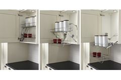 2 Tier Pull Down Shelf Unit