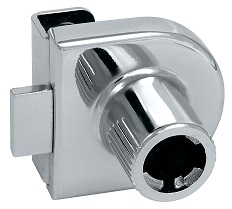Siso MIC Glass Door Lock Housing Siso MIC Glass Door Lock Housing Measurements Barrel Diameter : 19mm Suitable for 6mm glass.  No boring/drilling required. Finish : Nickel Plated Material : Steel Manufacturd by Siso Use with all Siso MIC cylinders available here Siso MIC Glass Door Lock Housing Description Unless otherwise requested housings will be sent prefitted with the cylinders ordered, If housings are ordered on there own they will arrive with a nylon plug fitted. This is to prevent damage during transit. Installation of cylinder into an empty lock body 1.Make sure that the arrow on the plastic plug points towards the lock tongue. If not in the correct position take a flat headed screwdriver and turn the plug to the correct position. 2. Once aligned remove the plug from the housing. 3. Remove the protective transparent cover from the cylinder. 4. Fully insert the cylinder into the housing. 5. Turn the key 90º & withdraw the key to complete installation.