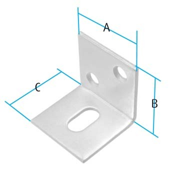 Bracket / Slotted (Pack of 10) (Dimensions)