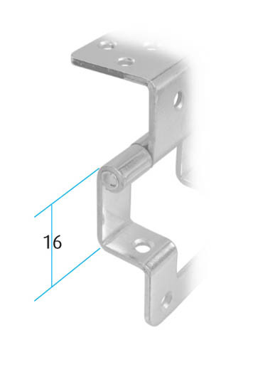Double Cranked Hinge (Dimensions)