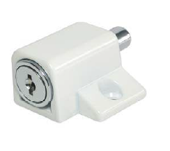 Patio Door & Window Lock Keyed Alike Patio Door & Window Lock Keyed Alike Measurements Lock Body x 1 Securing Socket x 1 Keys x 2 Key Range : Keyed Alike Colour : White Material : Zamak Manufactured by Siso Patio Door & Window Lock Keyed Alike Description An ideal solution if you are looking for an additional lock to secure your patio door whether it's a sliding or hinged or as an extra lock for the windows. Simple operation, to close the lock simply push in the barrel and this will push a pin into a socket provided and to open simply inert the ket and turn and the pin will automatically release back inside the lock allowing the door or window to be opened