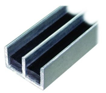 Aluminium Twin Track Glass Door Channel Unico Components