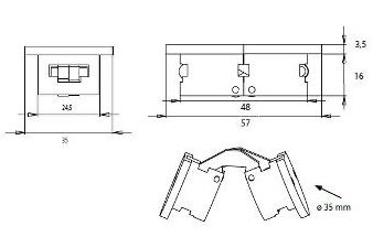 Black Table Flap Hinge Black Table Flap Hinge Measurements Designed for 22mm Panels Opening is 180 Degrees. Colour: Black Manufactured by Siso