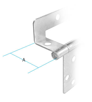 Single Cranked Hinge Colour : Nickel Plated A : 16mm Screw Size : 3mm Csk (Not supplied) Material : Steel