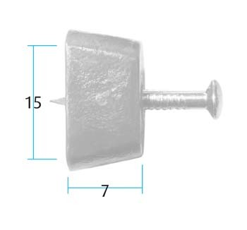 Shelf Stud with Pin (Pack of 10) White (Dimensions)