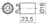 Cylinder Housing for VCS18 NP (Dimensions)
