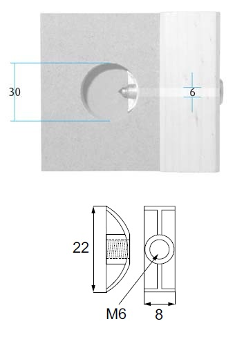 Any length of No 15 screw is used to complete the fitting Washer only 22 x 8mm M6 thread   Pack size = 10pcs
