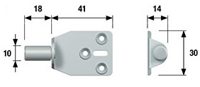 Table Flip Brackets Sold in pairs Central pivot : 10mm Screw Size – 3mm Csk (Not supplied) Material : Steel - Zinc Plated