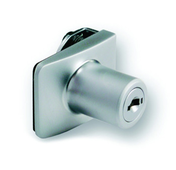 Square Lock for Single Glass Door Differ Chrome Plated