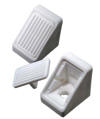 White Small Corner Fix Connecting Block & Cover White Small Corner Fix Connecting Block & Cover Measurements Size: Small Dimensions: 21mm x 18mm 2 Hole Fixing Pack size: 10pcs  Colour: White Material: Plastic Screw size : 4mm Csk (Not Supplied) White Small Corner Fix Connecting Block & Cover Description Corner fix connecting blocks are used throughout the furniture industry for the assembly of furniture, kickboards, worktops and any board that requires a 90 degree angled joint, complete with a front cover to hide the fixing screws. Two sizes are available with this version having 2 holes for secure fixing. With a choice of 2 colours available to match up with your furniture.