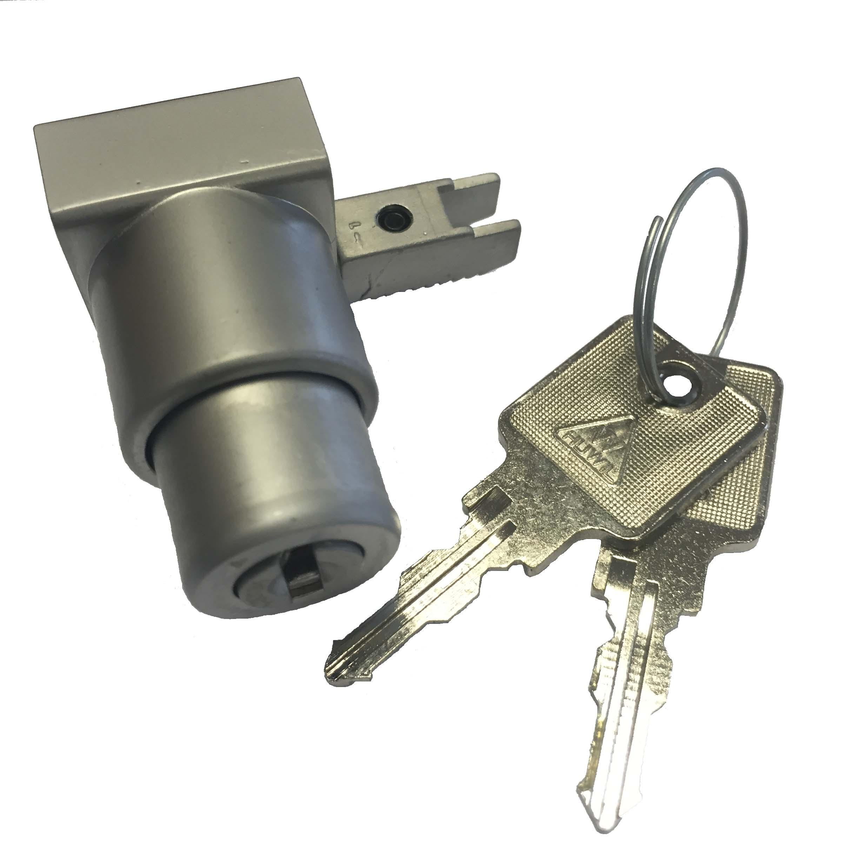 push button glass door lock