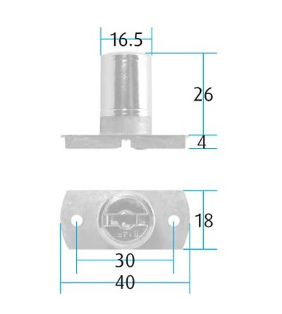 Side Pedestal Lock Supplied with 2 Steel Keys and Rosette Keyed Alike to 8147 LM Screw size : 3mm Csk (Not supplied) HALF PRICE WHILE STOCKS LAST
