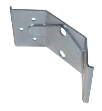 Continental Table Leg Plate 58x126mm Two Hole Zinc Plated