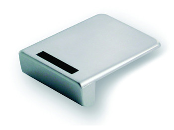 Square Lock Striker for Single Glass Door Chrome Plated