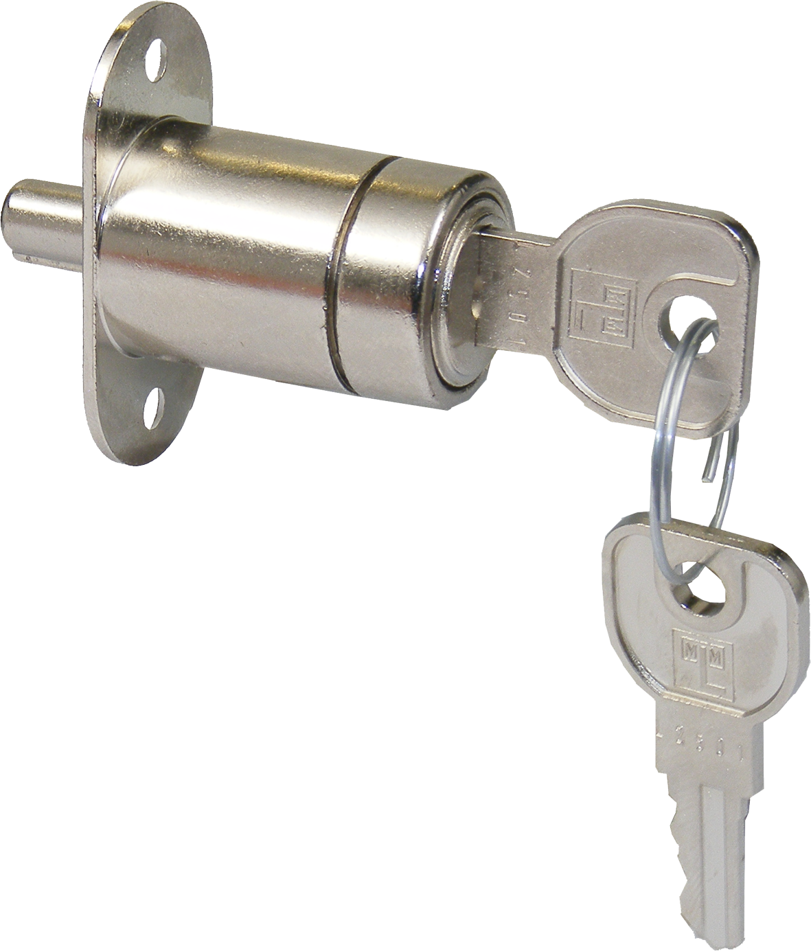 Lehmann Sliding Door Lock To Differ Lehmann Sliding Door Lock To Differ Measurements Differs Range : L2501 - L2700 Diameter : 21mm Material : Steel Finish : Zinc Plated Requires a ULO015640261 Rosette HERE Manufactured by Martin Lehmann Lehmann Sliding Door Lock To Differ Description Martin Lehmann are now producing their own version of the fixed cylinder pedestal locks to follow on from the success of the Huwil version. Built to the same high standards of the Lehmann housing range. Sliding door locks are used for wooden doors, by pushing the lock this extends a small pin out of the back of the lock preventing the second sliding door from passing effectively locking access to the unit behind