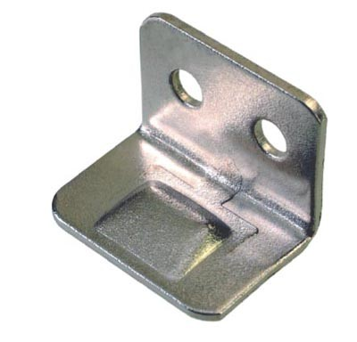 Nickel Plated Angle Striker Plates Nickel Plated Angle Striker Plate Details Angle striker plate for use with slide bolts. Screw size : 2.5mm Pan (Not supplied) Material :Steel- Nickel Plated Nickel Plated Angle Striker Plate Description Angled striker plates or keeps as they are also known as are used in a variety of applications within the bespoke joinery area. If used with locks they can be fitted so that the cam or latch of the lock can sit behind the striker plate or if used in conjunction with slide bolts they provide a keep for the slide to fall in behind. The smaller version can also be used as small cupboard door stops on an inset door to prevent the door being pushed too far in and damaging the hinges. Manufactured in steel with a nickel plated or electro brass finish and available in 3 sizes to suit most applications.