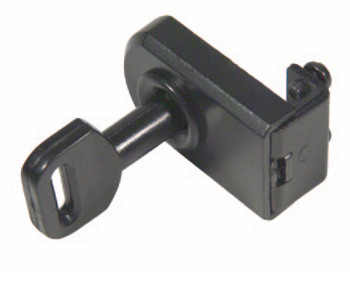 Hinged Glass Door Lock Keyed Alike Black Hinged Glass Door Lock Keyed Alike Black Measurements Dimensions:  43mm x 28mm Glass thickness:  4mm - 6mm Keyed alike Non mastered Finish:  Black No boring Manufactured by Siso   Hinged Glass Door Lock Keyed Alike Black Description The Hinged Glass Door Lock is suitable for use in cabinets and cupboards where a lock is required for the hinged glass door and can be fitted to either the top, bottom or side edges of the door.  The key can be withdrawn in either position.  When the key is turned the bolt moves out securing the door.  The bolt can be located into or behind a Striker (not supplied).  It can also be located into a hole in the cabinet.  No boring is required with the lock as it is secured to the glass door with two screws.