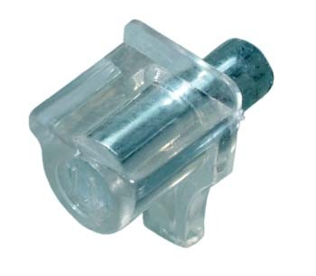 Clear Shelf Stud with Metal Pin (Pack of 10)