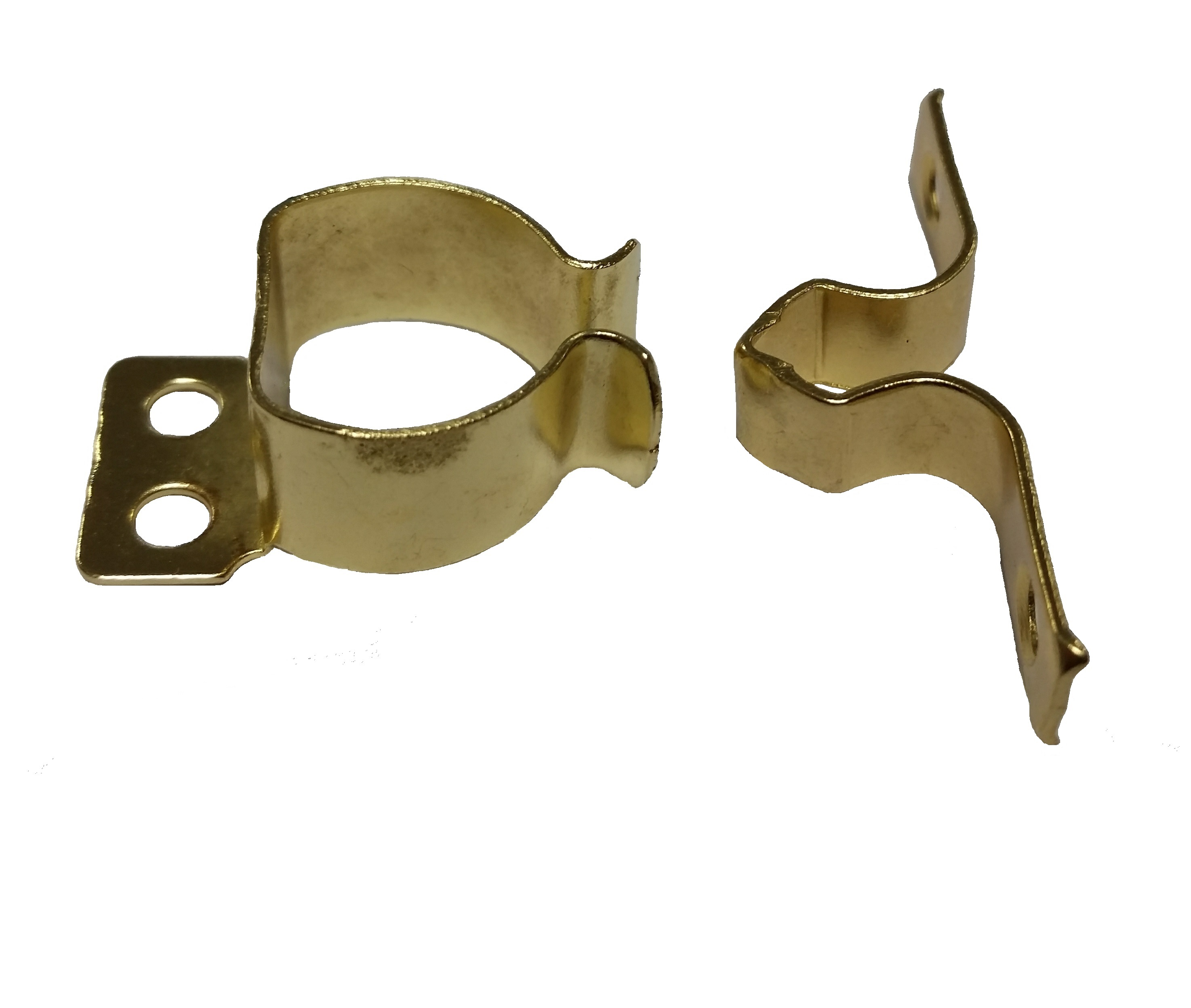 Gripper Catch  Material : Steel - Brass platedScrew size – 3mm Pan (Not Supplied) Gripper catches are used in light weight applications for keeping cupboard doors or flaps shut, made out of light weight steel and electro brass plated this two part item will sit on the surface unobtrusively within the framework. By pinching together the two arms this enables the amount of pressure required to keep the door or flat shut to be adjusted.