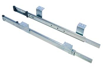 "Keyboard Slides Single Extension 508mm Keyboard Slides Single Extension 508mm Details  Suitable for keyboard trays, or retractable shelf under worktops, which do not require drawer disconnectLock in, lock out featureSlotted brackets for easy installation and adjustment Slide must be mounted parallel to each other and perpendicular to the frontMetal ball bearing retainer with 3 ball bearings per 25mm for smooth and quiet operation 508mm (20"") 79mm overall drop heightMounting surface must be a minimum of 32mm shorter, but not more than 50mm shorter than slide length Weight capacity 34kgScrew Size – 3.5mm Csk"