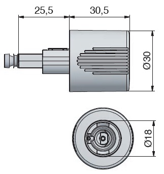 "Lehmann Espagnolette Housing and Straight Turn Knob Espagnolette Housing and Straight Turn Knob Measurements Housing Backset: 25mm Turn Knob can take either the 16.5mm or 18mm ML Cylinders Shaft Size is 7mm x 7mm Order individual items separately Manufacturer: Martin Lehmann Espagnolette Housing and Straight Turn Knob Description Installation Instructions These 2 items can only be used in conjunction with each other. Installation is by way of the small pozzi screw on the end of the turn knob, by placing the shaft of the turn knob through the rear of the lock housing until it is fully inserted and then turning the pozzi screw this will enlarge the square shaft gripping the housing securely. Espagnolette locks is a generic name to describe a system that uses round bars to lock a cabinet at the top and bottom of a cabinet. The lock when tuned either with a key or turn handle will rotate the bars which in turn rotate the hooks around pins which are situated at the top & bottom of the cabinet. Various locks can be used to rotate the bars. The ""D"" bar which is a standard size bar and used throughout the industry comes in 2 lengths 100cm or 200cm to ensure you have the correct length."