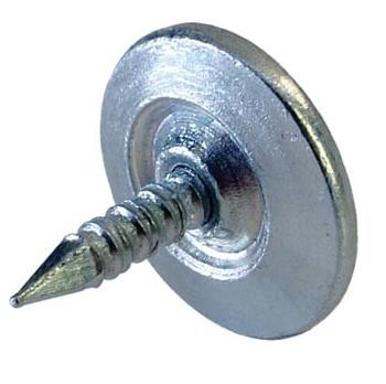 15mm Nail on Striker with Captive Nail 15mm Nail on Striker with Captive Nail Details Circular screw on strikers are designed to be used in conjunction with our circular magnetic catches enabling a discreet catch between the two components. Two versions are available to cover all installations. This version comes complete with a captive nail that can be tapped into position. The nail designed with a flexible shaft to ensure the head of the nail will always sit flush with the magnetic catch. Available with two diameter head sizes. The second version is available with a hole in the middle which can then be screwed in to position with a 3mm Csk wood screw, this version is available in two thickness sizes. Manufactured in steel and zinc plated.