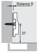 Clip-on Hinge Plate (Dimensions)