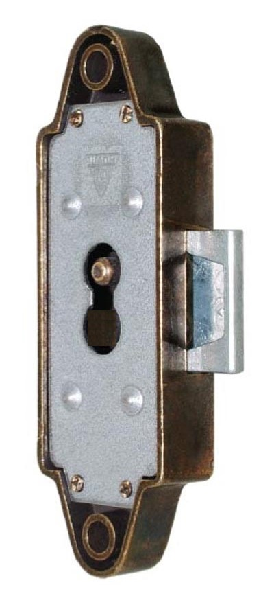 Huwil Rim Lock Left hand version 12.5mm backset Bronzed plated HALF PRICE WHILE STOCKS LAST