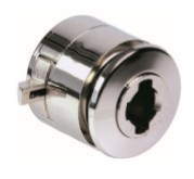 18mm Glass Door RH Slam Lock Round