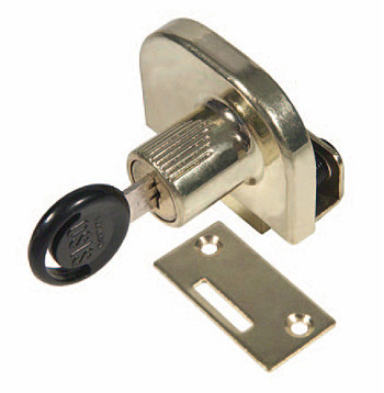 Glass Door Lock for Hinged Double Doors / Keyed Alike Chrome Plated