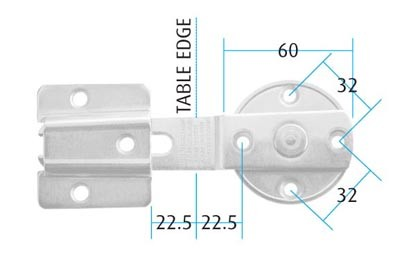 Click Catch Set Click Catch Measurements Screw Size : 4.5mm Pan (Not supplied) Colour: Zinc Plated Material : Steel  Manufactured by Siso Click Catch Description Each set consists of a fork & U bracket The fork is wedged in to the U bracket to complete a tight fit. Ideal for fixing two panels to each other, arm rotates when not in use. The click catch is a 2 part item  consisting of a male and female part, a revolving fork and a U-bracket. It can be used for connecting tables, chairs & display units