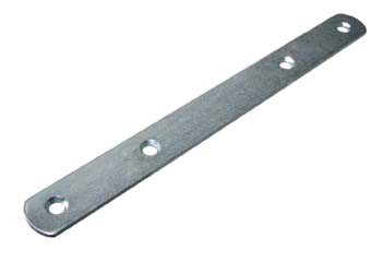 Connecting Bracket  Connecting Bracket Measurements Length: 190 x 19mm Width: 19mm Colour: Zinc Plated Material: Steel Screw Size:  3.5mm Csk (Not supplied) Connecting Bracket Description This connecting bracket is used when half panels or doors need to be joined to make a full panel or door. Can also be used for conecting a door front to a drawer front so they open simultaneously.