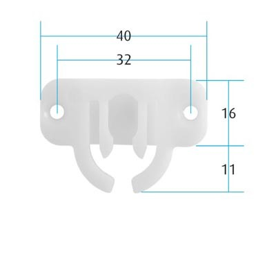 Trigger Plate with Bar Guide Trigger Plate with Bar Guide Measurements Dimensions:  40mm x 25mm Load:  3N Material:  White plastic  Finish:  White Screw size: 3mm Csk (Not supplied) Manufactured by Martin Lehmann   Trigger Plate with Bar Guide Description Used in conjunction with locking pins, saddles, guide blocks and anti-tilt bars it will provide an anti-tilt setup for all drawer pedestals and if used with a pedestal lock will secure the unit as well.  The Trigger Plate is used to hold the locking / anti tilt bar in position when one of the drawers has been opened.