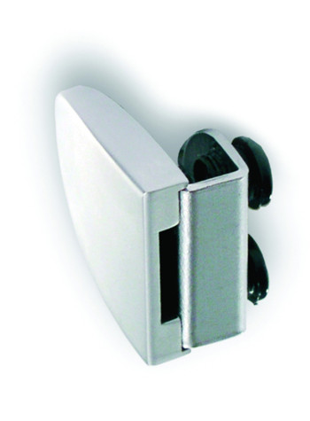 Screw on striker for double doors when single glass door lock is usedSupplied with 2 ABS screws with soft PVC tip for tight fastening without boringBadge