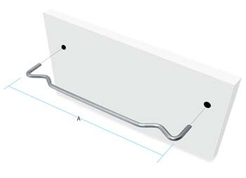 127mm Magic Wire Shelf Supports  127mm Magic Wire Shelf Supports Details Pack size = 10pcs   A=127mm 3mm diameter