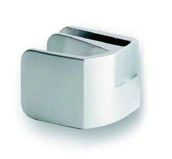Square Handle for Double Glass Doors Chrome Plated