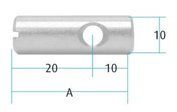 Single Hole Off Centre Pack size = 10pcs A=30mm M6 hole