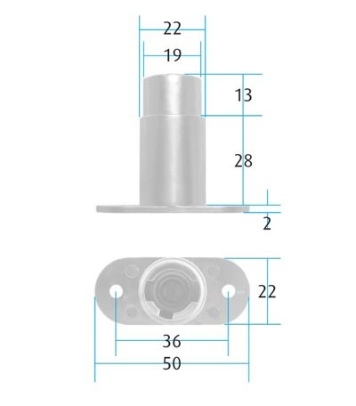 VCS18 Sliding Door Lock Housing (Dimensions)