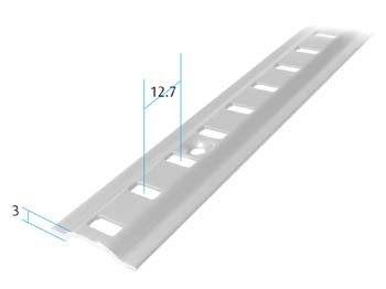 Zinc Plated Raised Bookcase Strips Zinc Plated Raised Bookcase Strips Measurements  Length: 1829mmFixing holes: 152.4mm centres Screw Size – 3mm Csk