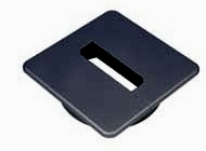 Black Square Cable Grommet Black Square Cable Grommet Details  Shape: Square C - Hole diameter size: 80mm B - Square: 94mm A - Depth: 22mm Colour: Black Material: Plastic Black Square Cable Grommet Description Cable grommets, cable ports or desk tidies as they are also known are available in various shapes from square, rectangular and circular with hole diameters ranging from 39mm to 80mm. Manufactured in plastic or steel with various colours available. Commonly used in office desks, media and television cabinets to ensure that cables are passed through safely and out of sight. Now half price while stocks last