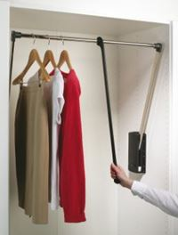 Pull Down Wardrobe Rail 600 -1000mm