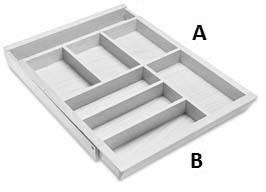 Mini Adjustable Cutlery Tray 450mm Drawer Box (Dimensions)