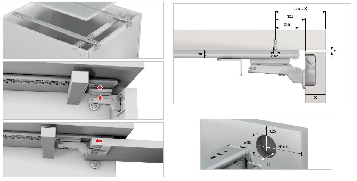 U0026nbsp; Pocket Door Slide Set Consists Of: 1 Pair Of 400mm Slides 1 Pair